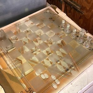 Other - Crystal Clear Chess checkers set